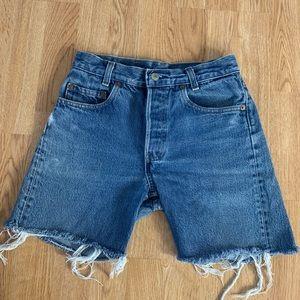Levi's 701 jeans cutoff shorts